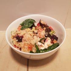 Quinoa salad by Dietitian Hannah Dobbie